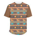 African Lions & Elephants Men's Crew T-Shirt (Personalized)