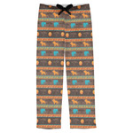 African Lions & Elephants Mens Pajama Pants (Personalized)