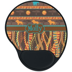 African Lions & Elephants Mouse Pad with Wrist Support
