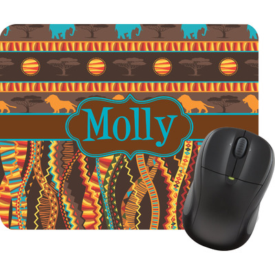 African Lions & Elephants Mouse Pad (Personalized)