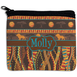 African Lions & Elephants Rectangular Coin Purse (Personalized)