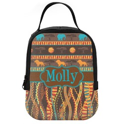 African Lions & Elephants Neoprene Lunch Tote (Personalized)