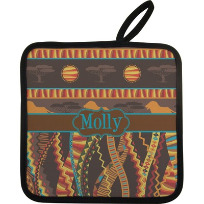 African Lions & Elephants Pot Holder (Personalized)