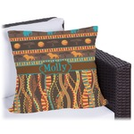 African Lions & Elephants Outdoor Pillow (Personalized)