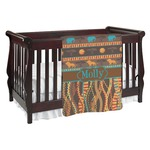 African Lions & Elephants Baby Blanket (Personalized)