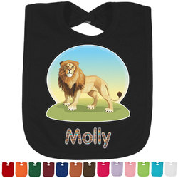 African Lions & Elephants Bib - Select Color (Personalized)