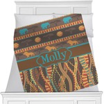 African Lions & Elephants Minky Blanket (Personalized)