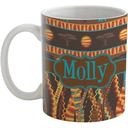African Lions & Elephants Coffee Mug (Personalized)