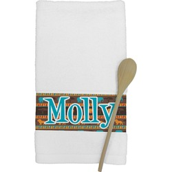 African Lions & Elephants Kitchen Towel (Personalized)
