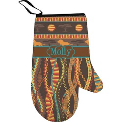 African Lions & Elephants Oven Mitt (Personalized)