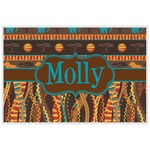 African Lions & Elephants Laminated Placemat w/ Name or Text