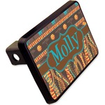"""African Lions & Elephants Rectangular Trailer Hitch Cover - 2"""" (Personalized)"""