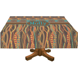 African Lions & Elephants Rectangle Tablecloth (Personalized)