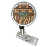 African Lions & Elephants Retractable Badge Reel (Personalized)