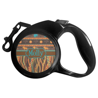 African Lions & Elephants Retractable Dog Leash (Personalized)