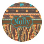 African Lions & Elephants Round Decal - Custom Size (Personalized)