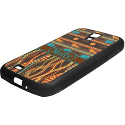 African Lions & Elephants Rubber Samsung Galaxy 4 Phone Case (Personalized)