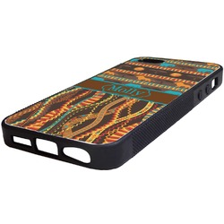 African Lions & Elephants Rubber iPhone 5/5S Phone Case (Personalized)