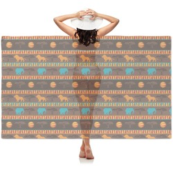 African Lions & Elephants Sheer Sarong (Personalized)