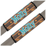 African Lions & Elephants Seat Belt Covers (Set of 2) (Personalized)