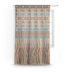 African Lions & Elephants Sheer Curtains (Personalized)