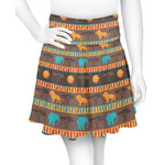 African Lions & Elephants Skater Skirt (Personalized)