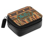 African Lions & Elephants Small Leatherette Travel Pill Case (Personalized)