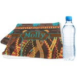 African Lions & Elephants Sports & Fitness Towel (Personalized)