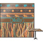 African Lions & Elephants Square Table Top (Personalized)
