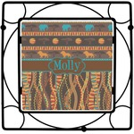 African Lions & Elephants Square Trivet (Personalized)