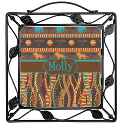 African Lions & Elephants Trivet (Personalized)