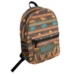 African Lions & Elephants Student Backpack (Personalized)