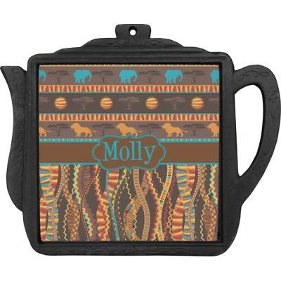 African Lions & Elephants Teapot Trivet (Personalized)