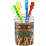 African Lions & Elephants Toothbrush Holder (Personalized)
