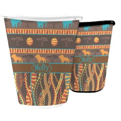 African Lions & Elephants Waste Basket (Personalized)