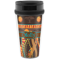 African Lions & Elephants Travel Mugs (Personalized)