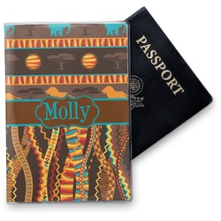African Lions & Elephants Vinyl Passport Holder (Personalized)