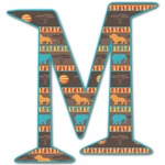 African Lions & Elephants Letter Decal - Custom Sized (Personalized)