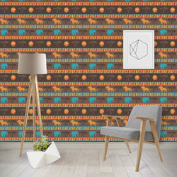 African Lions & Elephants Wallpaper & Surface Covering