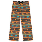 African Lions & Elephants Womens Pajama Pants (Personalized)