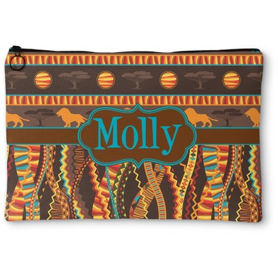 African Lions & Elephants Zipper Pouch (Personalized)