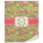 Lily Pads Sherpa Throw Blanket (Personalized)