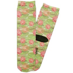 Lily Pads Adult Crew Socks (Personalized)