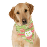 Lily Pads Dog Bandana Scarf w/ Name and Initial