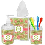 Lily Pads Acrylic Bathroom Accessories Set w/ Name and Initial
