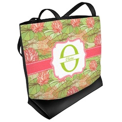 Lily Pads Beach Tote Bag (Personalized)