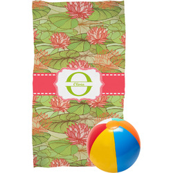 Lily Pads Beach Towel (Personalized)