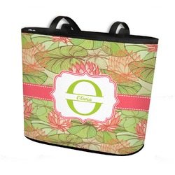 Lily Pads Bucket Tote w/ Genuine Leather Trim (Personalized)