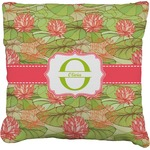 Lily Pads Faux-Linen Throw Pillow (Personalized)