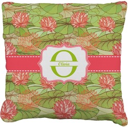 Lily Pads Burlap Pillow Case (Personalized)